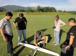 Training researchers to use Conservation Drones for elephant monitoring.