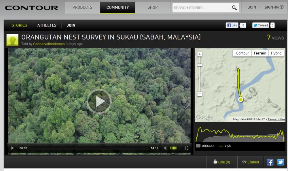 Orangutan nest survey video