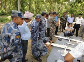 Demonstration of Conservation Drones to Nepali Army, Police, Minister of Forestry, and other officials