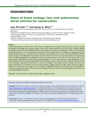 Dawn of Drone Ecology