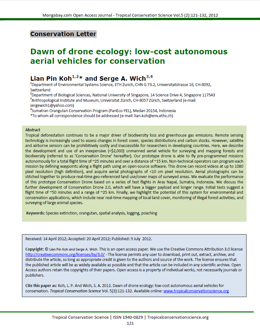 capture1 png first scientific publication of conservation drones