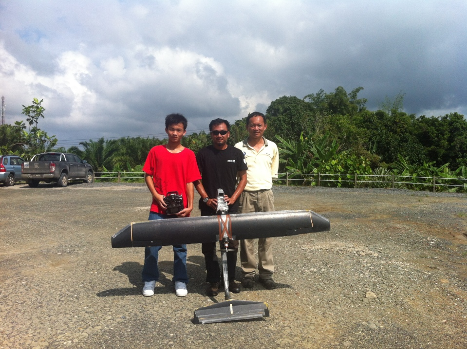 Conservation Drones Asia Team. From right to left: Keeyen, Wee Siong, Keeyen's son who is an ace pilot!