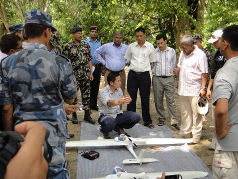 Explaining the use of UAVs for conservation to senior government officials in Nepal