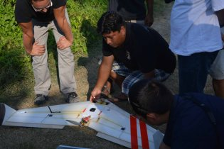 Rupak preparing the Vanguard for launch